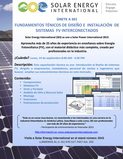Intersolar Flyer